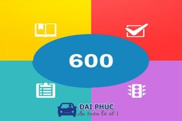 Bộ đề 600 câu hỏi ôn thi lý thuyết học lái xe ô tô